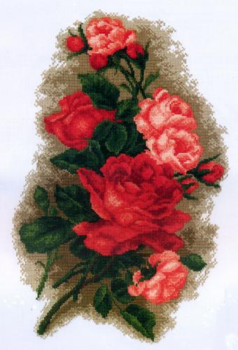 Набор для вышивания крестом Розы красные, 48 см х 31 см. 77057617705761Набор для вышивания крестом Розы красные поможет вам создать свой личный шедевр - красивую картину, вышитую в технике крест в четыре нити. Работа, выполненная своими руками, станет отличным подарком для друзей и близких! Набор содержит: - канва с рисунком (100% хлопок), - мулине мерсеризованное - 15 цветов (100% хлопок), - игла, - цветная схема для вышивания, - инструкция на русском языке. Размер готовой работы: 48 см х 31 см.