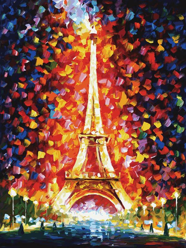 Живопись на холсте Париж - огни Эйфелевой башни, 60 х 80 см2003-AM Париж - огни Эйфелевой башниЖивопись на холсте Париж - огни Эйфелевой башни - это набор для раскрашивания по номерам акриловыми красками на холсте. В набор входят: - холст на подрамнике с нанесенным рисунком, - контрольный лист с нанесенным рисунком, - набор акриловых красок, - кисти, - крепление для готовой картины, - инструкция. Каждая краска имеет свой номер, соответствующий номеру на картинке. Нужно только аккуратно нанести необходимую краску на отмеченный для нее участок. Таким образом, шаг за шагом у вас получится великолепная картина с изображением Эйфелевой башни. С помощью серии наборов Живопись на холсте вы можете стать настоящим художником и создателем прекрасных картин. Вы получите истинное удовольствие от погружения в процесс творчества и созданные своими руками картины украсят интерьер вашего дома или станут прекрасным подарком. Техника раскрашивания на холсте по номерам дает возможность легко рисовать даже сложные сюжеты. Прекрасно развивает...