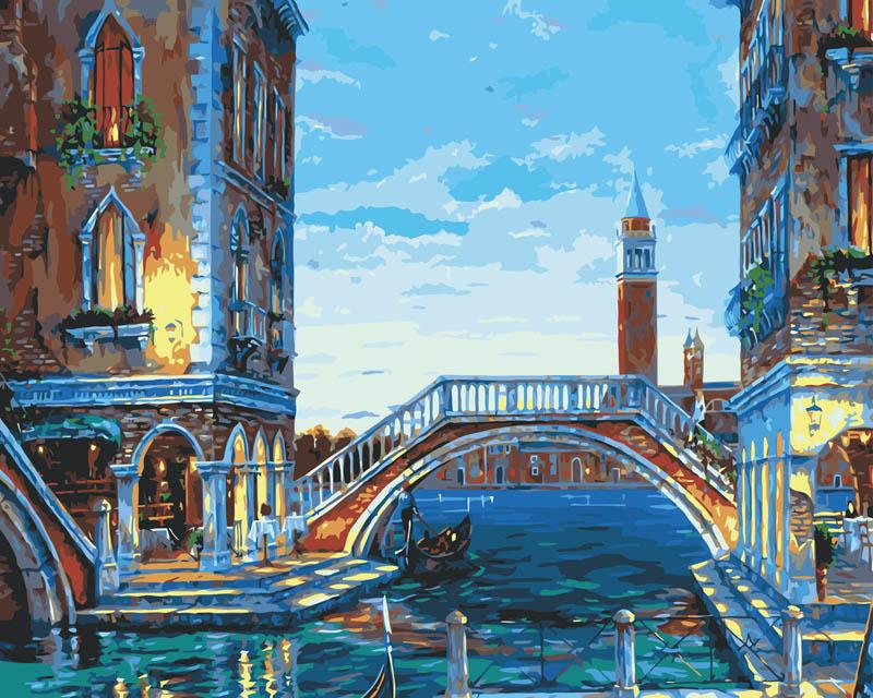Живопись на холсте Каналы Венеции, 40 см х 50 см624-AB Каналы ВенецииЖивопись на холсте Каналы Венеции - это набор для раскрашивания по номерам акриловыми красками на холсте. В набор входят: - холст на подрамнике с нанесенным рисунком, - контрольный лист с нанесенным рисунком, - набор акриловых красок, - кисти, - крепление для готовой картины, - инструкция. Каждая краска имеет свой номер, соответствующий номеру на картинке. Нужно только аккуратно нанести необходимую краску на отмеченный для нее участок. Таким образом, шаг за шагом у вас получится великолепная картина. С помощью серии наборов Живопись на холсте вы можете стать настоящим художником и создателем прекрасных картин. Вы получите истинное удовольствие от погружения в процесс творчества и созданные своими руками картины украсят интерьер вашего дома или станут прекрасным подарком. Техника раскрашивания на холсте по номерам дает возможность легко рисовать даже сложные сюжеты. Прекрасно развивает художественный вкус, аккуратность и внимание....