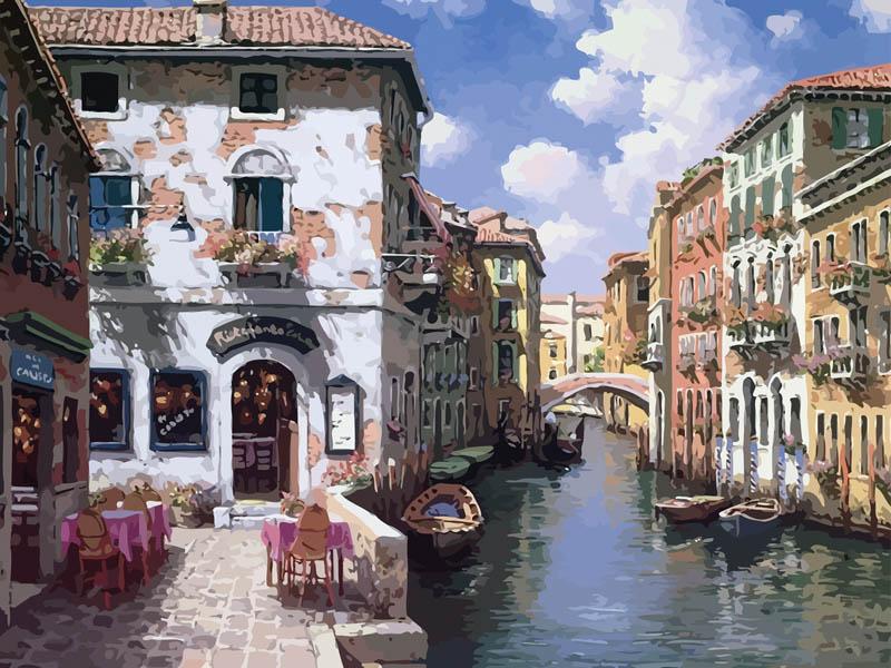 Живопись на холсте Венецианские дома, 40 х 50 см631-AB Венецианские домаЖивопись на холсте Венецианские дома - это набор для раскрашивания по номерам акриловыми красками на холсте. В набор входят: - холст на подрамнике с нанесенным рисунком, - контрольный лист с нанесенным рисунком, - набор акриловых красок, - кисти, - крепление для готовой картины, - инструкция. Каждая краска имеет свой номер, соответствующий номеру на картинке. Нужно только аккуратно нанести необходимую краску на отмеченный для нее участок. Таким образом, шаг за шагом у вас получится великолепная картина с изображением Венеции. С помощью серии наборов Живопись на холсте вы можете стать настоящим художником и создателем прекрасных картин. Вы получите истинное удовольствие от погружения в процесс творчества и созданные своими руками картины украсят интерьер вашего дома или станут прекрасным подарком. Техника раскрашивания на холсте по номерам дает возможность легко рисовать даже сложные сюжеты. Прекрасно развивает художественный вкус,...