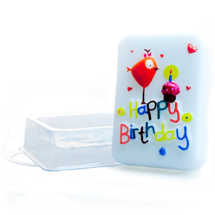 Форма для литья День рождения, пластиковая, 16 х 11 х 2,5 см2700770021134При помощи этой прозрачной формы для литья можно самостоятельно изготовить мыло, а так же оригинальную свечу для украшения праздничного стола и интерьера. Форма имеет удобный ложемент, в котором расположена сама форма.