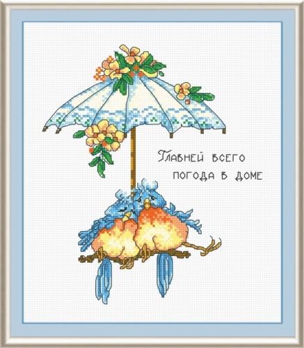 Набор для вышивания крестом Погода в доме, 18 х 22 см 545088545088Набор для вышивания Погода в доме поможет вам создать свой личный шедевр - красивую картину, вышитую крестом. Работа, выполненная своими руками, станет отличным подарком для друзей и близких! Набор содержит: - белая канва №14, - нитки мулине - 12 цветов (100% хлопок), - игла, - цветная схема для вышивания, - инструкция на русском языке. Размер готовой работы: 18 см х 22 см. УВАЖАЕМЫЕ КЛИЕНТЫ! Обращаем ваше внимание, на тот факт, что рамка в комплект не входит, а служит для визуального восприятия товара.