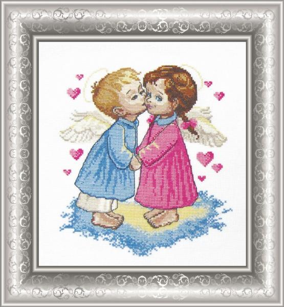 Набор для вышивания крестом Два ангела, 22 см х 23 см. 562263562263Набор для вышивания Два ангела поможет вам создать свой личный шедевр - красивую картину, вышитую крестом. Работа, выполненная своими руками, станет отличным подарком для друзей и близких! Набор содержит: - белая канва №14, - нитки мулине - 17 цветов (100% хлопок), - игла, - цветная схема для вышивания, - инструкция на русском языке. Размер готовой работы: 22 см х 23 см. УВАЖАЕМЫЕ КЛИЕНТЫ! Обращаем ваше внимание, на тот факт, что рамка в комплект не входит, а служит для визуального восприятия товара.
