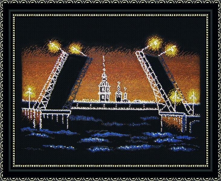Набор для вышивания Овен Ночной Питер, 36 х 25 см562266