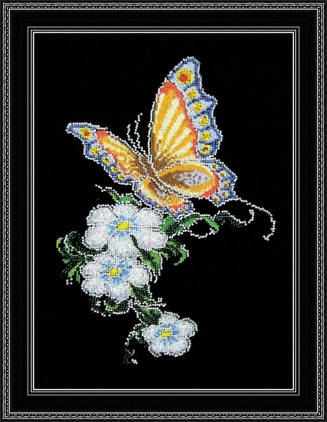 Набор для вышивания Овен Бабочка на цветке, 20 см х 28 см562267