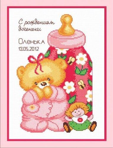 Набор для вышивания крестом Овен Метрика с куклой, 17 см х 25 см688775