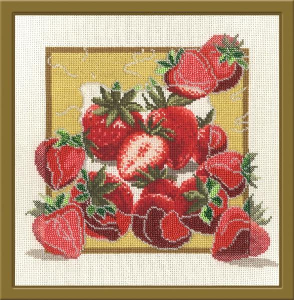 Набор для вышивания Овен Дары садов. Клубника, 27 х 27 см690052