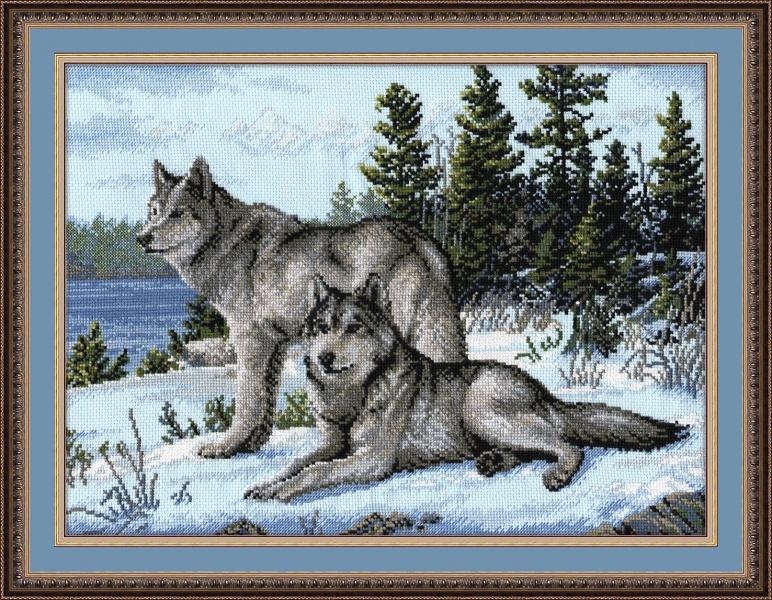 Набор для вышивания Волки, 40 см х 30 см694240