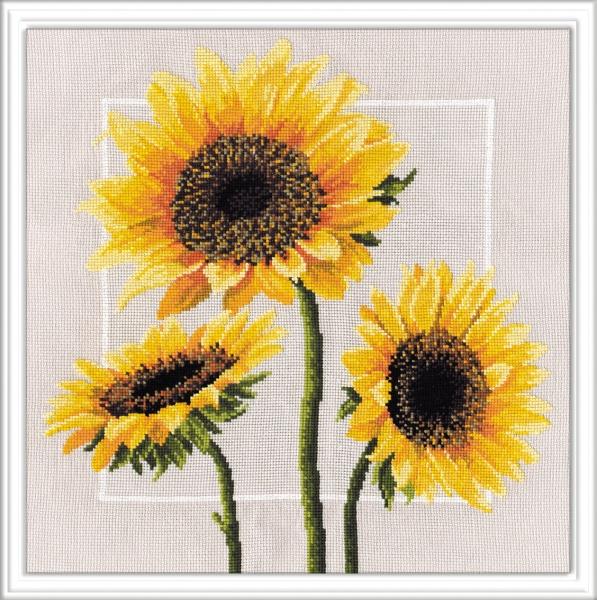 Набор для вышивания крестом Овен Цветы солнца, 34 см х 34 см694770