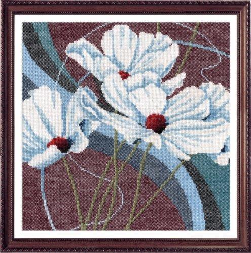 Набор для вышивания крестом Белые анемоны, 27 см х 27 см. 695274695274Набор для вышивания Белые анемоны поможет вам создать свой личный шедевр - красивую картину, вышитую крестом. Работа, выполненная своими руками, станет отличным подарком для друзей и близких! Набор содержит: - белая канва №14, - нитки мулине - 13 цветов (100% хлопок), - игла, - цветная схема для вышивания, - инструкция на русском языке. Размер готовой работы: 27 см х 27 см. УВАЖАЕМЫЕ КЛИЕНТЫ! Обращаем ваше внимание, на тот факт, что рамка в комплект не входит, а служит для визуального восприятия товара.