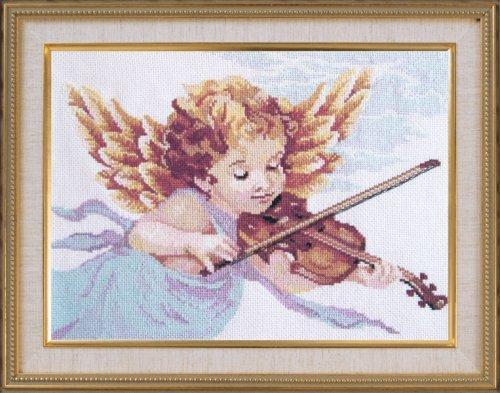 Набор для вышивания крестом Овен Ангел со скрипкой, 43 см х 32 см699348
