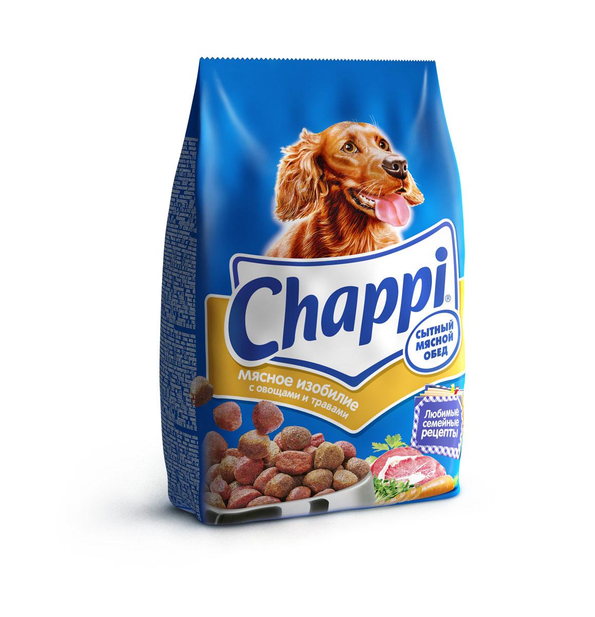Корм сухой для собак Chappi Сытный мясной обед, мясное изобилие с овощами и травами, 600 г10006Сухой корм Chappi Сытный мясной обед - это специально разработанная еда для собак с оптимально сбалансированным содержанием белков, витаминов и микроэлементов. Уникальная формула Chappi включает в себя все необходимые для здоровья компоненты: - мясо - для силы и энергии в течение дня; - овощи, травы и злаки - для отличного пищеварения; - масла и жиры - для блестящей шерсти и здоровой кожи; - кальций - для крепких зубов и костей; - витамины - для защиты здоровья; - минералы - для подержания собаки в оптимальной форме. Корм Chappi идеально подходит для вашего любимца как надежный источник жизненных сил. Состав: злаки, мясо и субпродукты, жиры животного происхождения, морковь, люцерна, растительные масла, минеральные вещества, витамины. Пищевая ценность в 100 г: белок - 18 г, жиры - 10 г, клетчатка - 7 г, влажность - не более 10 г, зола - 7 г, кальций - 0,8 г, фосфор - 0,6 г, витамин А - 500 МЕ,...