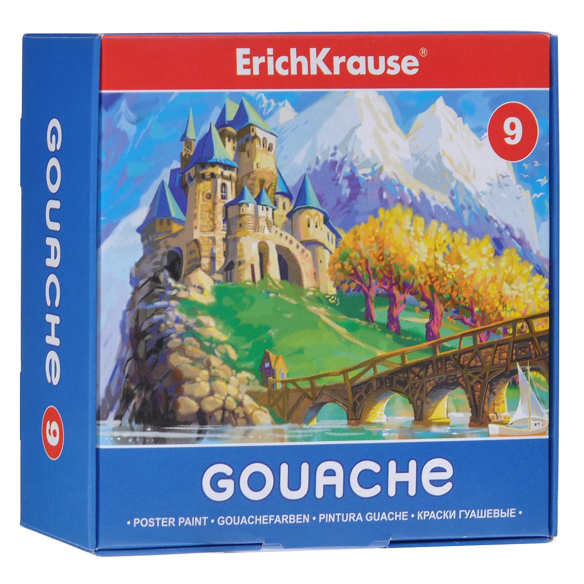 Гуашь Erich Krause, 9 цветов35159Гуашь Erich Krause предназначена для декоративно-оформительских работ и творчества детей. В набор входят краски девяти цветов: белого, зеленого, оранжевого, красного, синего, коричневого, желтого, черного и лилового. Они легко наносятся на бумагу, картон и грунтованный холст. При высыхании приобретают матовую, бархатистую поверхность.