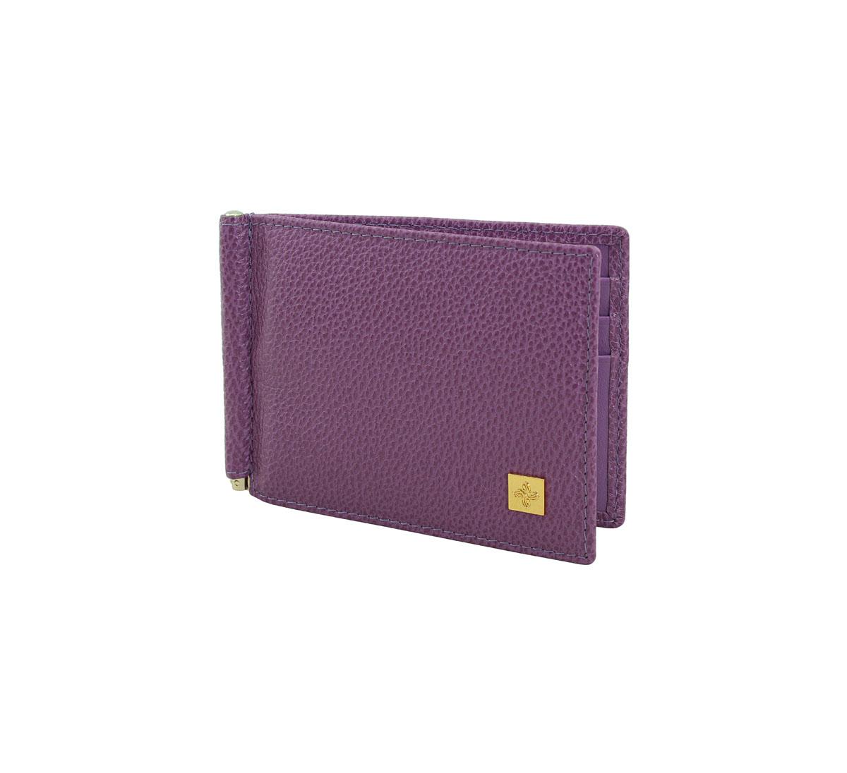 """Зажим для денег Dimanche """"Purpur"""", цвет: фиолетовый. 249"""