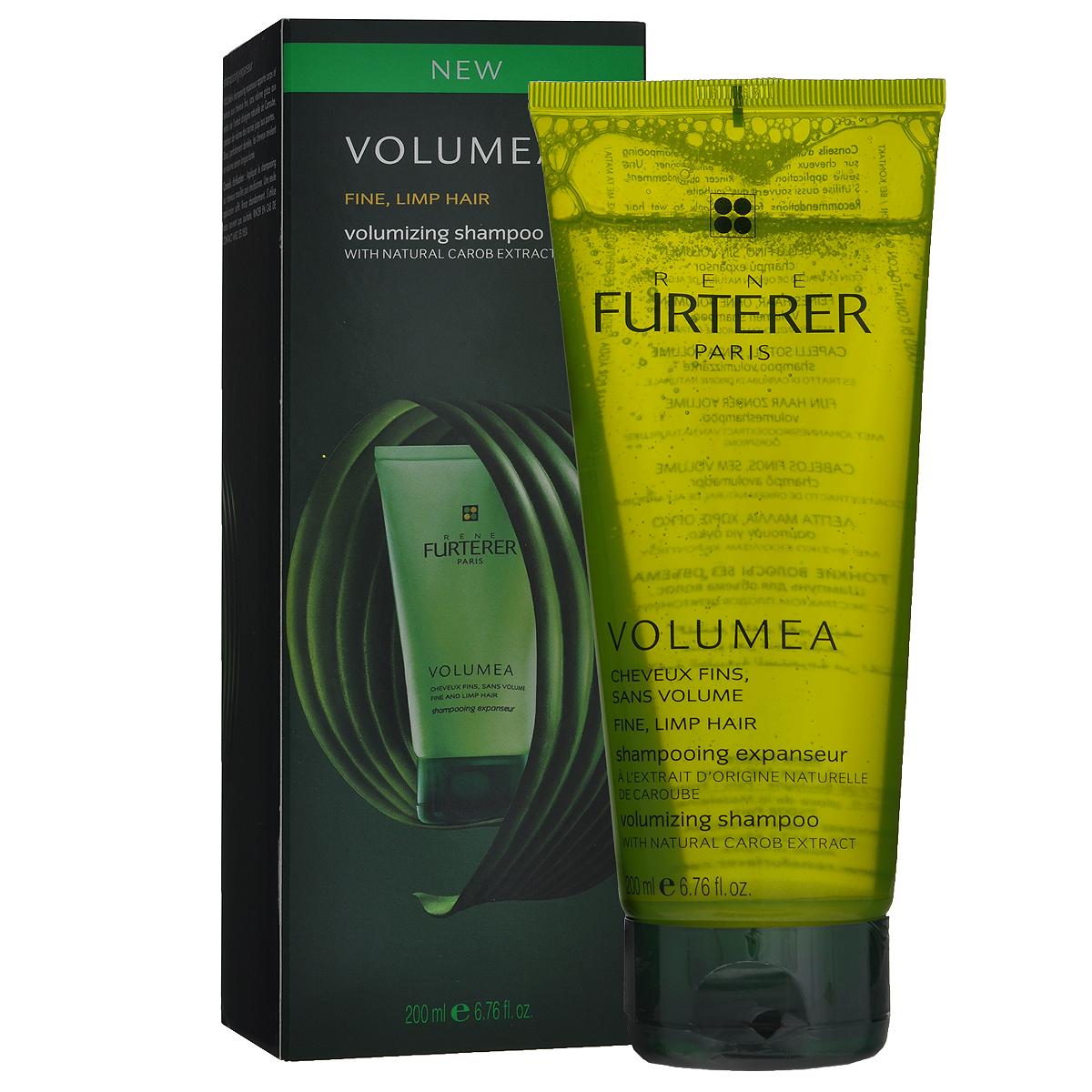 Rene Furterer Шампунь Volumea для объема волос, 200 мл3282779354899Мягкий шампунь придает плотность, густоту и воздушный объем тонким волосам. Благодаря щадящей формуле шампуня, волосы и кожа головы мягко очищаются. Волосы после использования шампуня легко расчесываются, надолго обретают воздушный объем. Активные компоненты : Натуральный экстракт плодов Цератонии создает объем от корней до самых кончиков волос. Катионный комплекс облегчает расчесывание. Мягкая, придающая объем моющая основа. Способ применения : нанести шампунь на влажные волосы, вспенить, смыть. Подходит для частого применения.