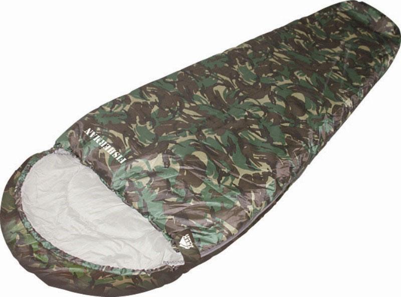 Спальный мешок TREK PLANET Fisherman, цвет: камуфляж, правосторонняя молния70322-RКомфортный, просторный, теплый и удобный спальник-кокон TREK PLANET Fisherman в камуфляжном исполнении предназначен для летне- осенних поездок на природу. Идеально подойдет для людей, любящих походы, рыбалку, охоту или просто качественные камуфляжные вещи в цветах британского DPM. ОСОБЕННОСТИ СПАЛЬНИКА: - Удобный капюшон. - Двухсторонняя молния. - Тепловой ворот. - Термоклапан вдоль молнии. - Внутренний карман. - Состегивание двух спальников модели невозможно. К спальнику прилагается чехол для удобного хранения и переноски. Характеристики: Цвет: камуфляж. Температура комфорта: +5°C. Температура лимит комфорта: -1°C. Температура экстрима: -14°C. Внешний материал: 100% полиэстер Внутренний материал: 100% полиэстер. Утеплитель: Hollow Fiber 2x150 г/м2. Размер: 220 см х 80 (50) см. Размер в чехле: 25 см х 25 см х 39 см. Вес: 1,7 кг. Производитель: Китай. Артикул:...