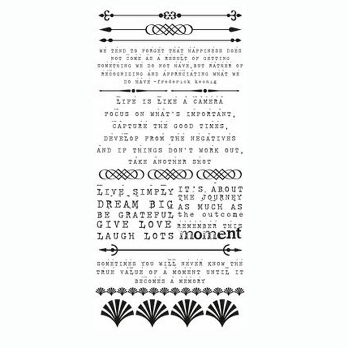 Натирка для скрапбукинга Kaisercraft На чердаке, 21 см х 10 смRB985Натирки (rub-ons) - переводные картинки из тонкой пленки нанесенные на прозрачную основу. Натирки можно переводить на бумагу, пластик, ткань, дерево, стекло или кальку. Скрапбукинг - это хобби, которое способно приносить массу приятных эмоций не только человеку, который этим занимается, но и его близким, друзьям, родным. Это невероятно увлекательное занятие, которое поможет вам сохранить наиболее памятные и яркие моменты вашей жизни, а также интересно оформить интерьер дома.