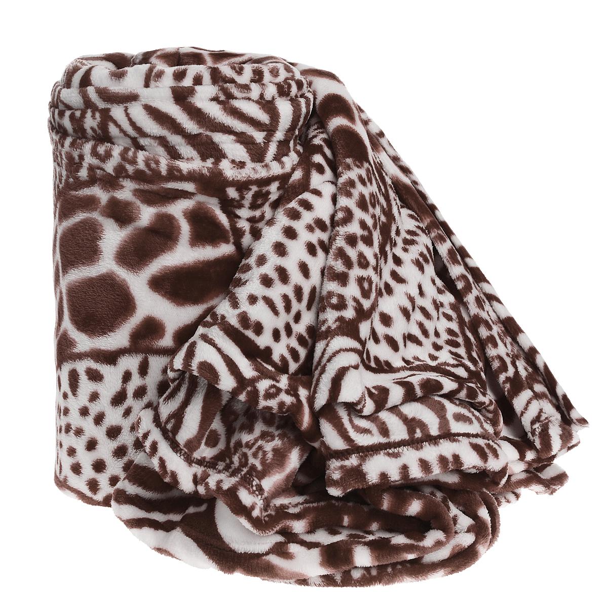 Плед Cleanst, цвет: белый, коричневый, 200 х 230 смBwgz-BrownПлед Cleanst, выполненный из полиэстера, послужит теплым, мягким и практичным подарком близким людям. Такой плед легок и не займет много места, что немаловажно в дороге. Благодаря использованию высокотехнологичных материалов этот плед обладает высокой степенью мягкости (бархатный на ощупь) и износоустойчивостью.