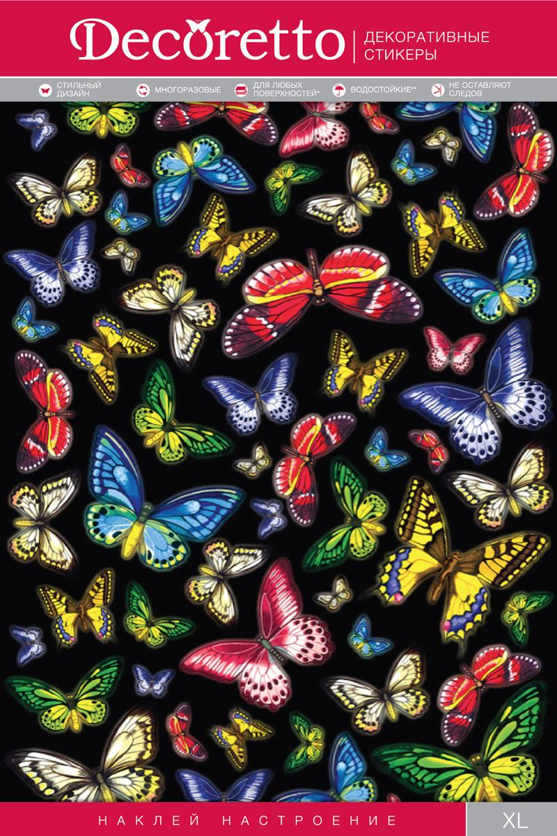 Украшение для стен и предметов интерьера Decoretto Тропические бабочкиAI 5004Украшение для стен и предметов интерьера Decoretto Тропические бабочки - это удивительно простой и быстрый способ оживить интерьер помещения. Интерьерные наклейки дадут вам вдохновение, которое изменит вашу жизнь и поможет погрузиться в мир ярких красок, фантазий и творчества. Украшение состоит из 57 самоклеющихся элементов. Преимущества украшений Decoretto: - изготовлены из экологически безопасной самоклеющейся виниловой пленки с водоотталкивающей поверхностью, абсолютно безопасны для здоровья детей; - быстро и легко наклеиваются на любые ровные поверхности: стены, окна, двери, кафельную плитку, виниловые и флизелиновые обои, стекла, мебель; - при необходимости удобно снимаются, не оставляют следов и не повреждают поверхность (кроме бумажных обоев); - многоразовые - если вы решите изменить композицию, то просто снимите наклейки и наклейте их в другом месте; - специальный слой защищает поверхность от влаги и выгорания. Decoretto...