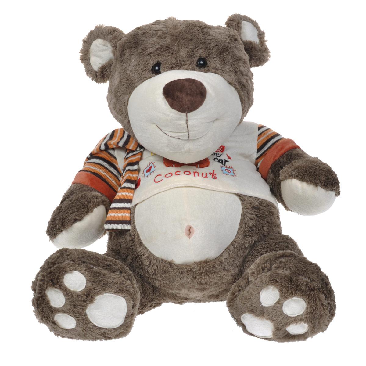 Мягкая игрушка Maxi Toys Мишка Мэд, 50 смMT-SUT031325-50SОчаровательная мягкая игрушка Maxi Toys Мишка Мэд вызовет умиление и улыбку у каждого, кто ее увидит. Она выполнена в виде милого серо-коричневого медвежонка, одетого в футболку с вышивкой и полосатый шарф. Удивительно мягкая игрушка принесет радость и подарит своему обладателю мгновения нежных объятий и приятных воспоминаний. Великолепное качество исполнения делают эту игрушку чудесным подарком к любому празднику.