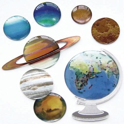 Стикеры объемные EKSuccess Tools Планеты, 8 предметовEKS-SPJB710Стикеры объемные EKSuccess Tools Планеты прекрасно подойдут для оформления творческих работ в технике скрапбукинга. Их можно использовать для украшения фотоальбомов, скрап-страничек, подарков, конвертов, фоторамок, открыток и т.д. Стикеры оформлены в виде планет. Задняя сторона клейкая. В наборе - 8 стикеров разного размера и дизайна. Скрапбукинг - это хобби, которое способно приносить массу приятных эмоций не только человеку, который этим занимается, но и его близким, друзьям, родным. Это невероятно увлекательное занятие, которое поможет вам сохранить наиболее памятные и яркие моменты вашей жизни, а также интересно оформить интерьер дома.