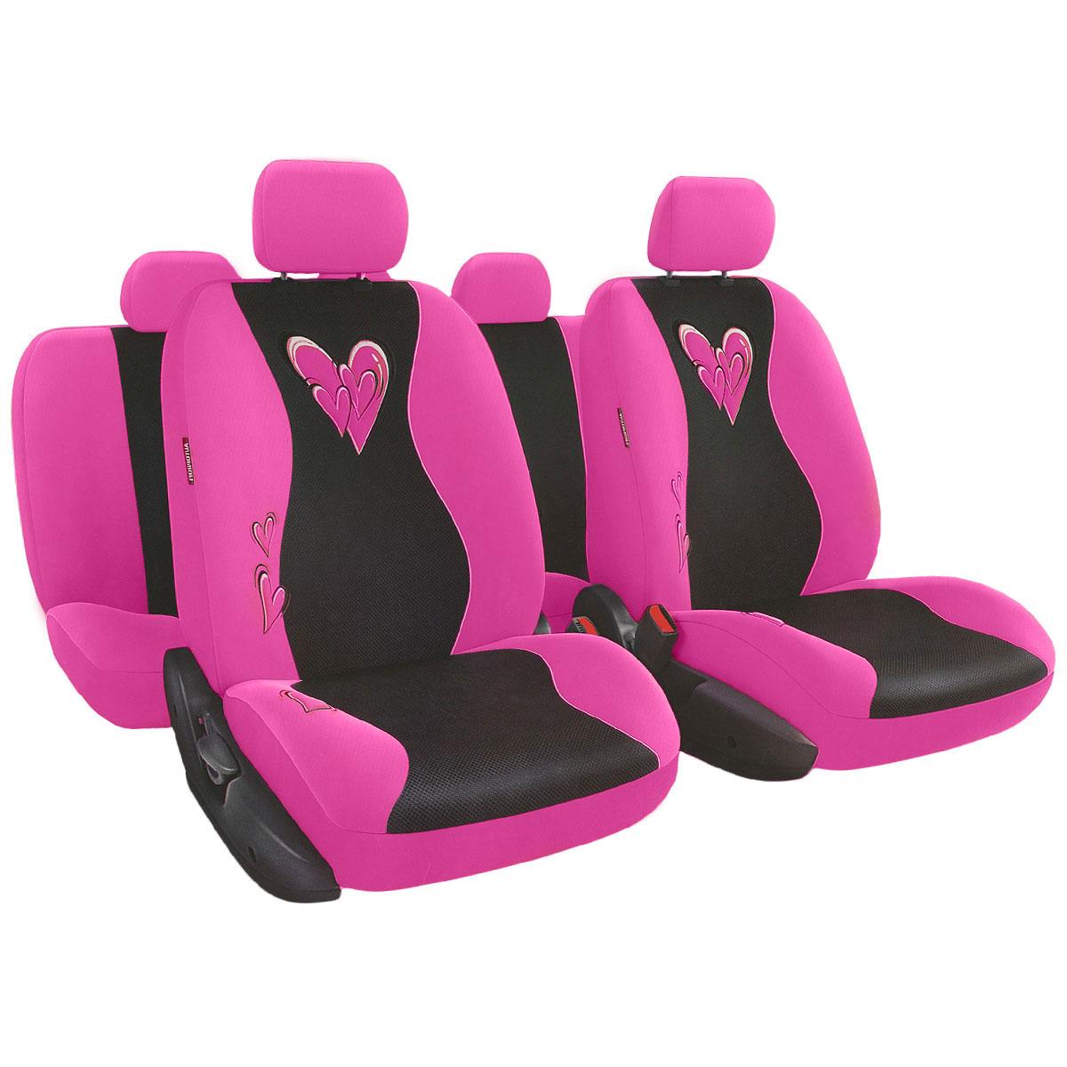 Набор авточехлов Autoprofi Glamour, велюр, цвет: розовый, 13 предметовGLM-1105 PINKМодель автомобильных чехлов Glamour разработана специально для милых дам. Очаровательный двухцветный дизайн и мягкие расцветки чехлов помогают придать салону автомобиля атмосферу гламура и чисто женского шарма. Нежный велюр и объемная сетчатая ткань чехлов делают их очень привлекательными и приятными на ощупь. Высококачественные материалы, триплированные толстым слоем поролона, способствуют улучшенной вентиляции кресел и позволяют сделать комфортными и неутомительными даже долгие поездки. Основные особенности авточехлов Glamour: - 3 молнии в спинке заднего ряда; - 3 молнии в сиденье заднего ряда; - карманы в спинках передних сидений; - крепление передних спинок липучками; - предустановленные крючки на широких резинках; - толщина поролона: 5 мм. Комплектация: - 1 сиденье заднего ряда; - 1 спинка заднего ряда; - 2 сиденья переднего ряда; - 2 спинки переднего ряда; - 5 подголовников; -...