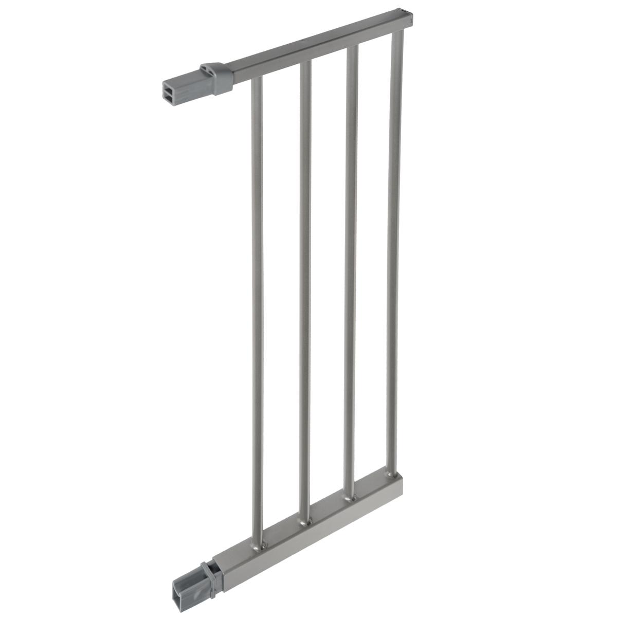 Дополнительная секция к защитным воротам Lindam Sure Shut, цвет: серебристый, 28 см4451301Дополнительная секция к защитным воротам Lindam Sure Shut, выполненная из металла серебристого цвета подходят к Lindam Sure Shut Deco 75-82 см. Дополнительная секция позволяет увеличить ширину ворот на 28 см. С каждой стороны ворот можно устанавливать по 2 дополнительных секции и даже более, если не уменьшается их устойчивость. Характеристики: Материал: металл, пластик. Размер секции: 27 см х 74 см х 2 см. Размер упаковки: 30,5 см x 75 см x 4 см. Изготовитель: Китай.
