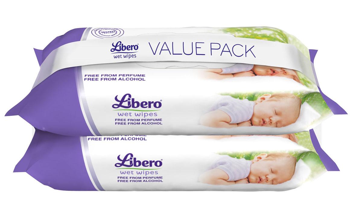 Libero Влажные Салфетки 128 шт4357Сменный блок для влажных салфеток Либеро, 128 штук Влажные салфетки Libero с экстрактом алоэ идеально подходят для очищения кожи малыша при смене подгузника. ...