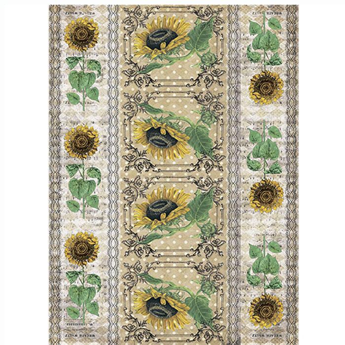 Рисовая бумага для декупажа Craft Premier Гербарий. Подсолнух, A3CP00511