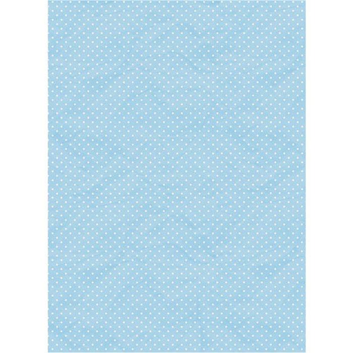 Рисовая бумага для декупажа Craft Premier Голубой горох, A3CP01518