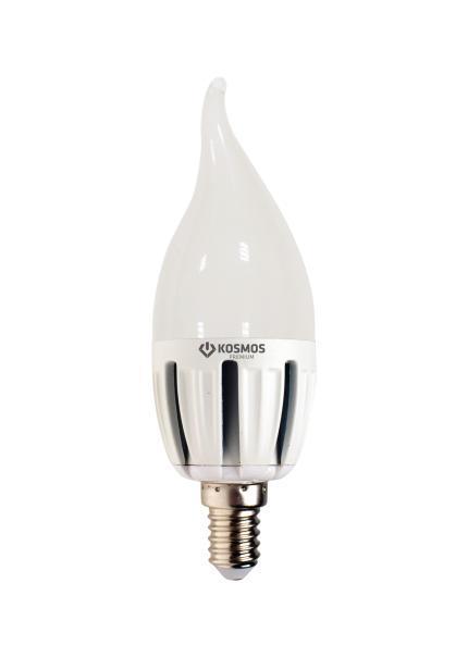 Светодиодная лампа Kosmos Premium, белый свет, цоколь Е14, 5W. KLED5wCW230vE1445KLED5wCW230vE1445Нейтральный белый оттенок свечения идеально подойдет для освещения кухни и гостиной.