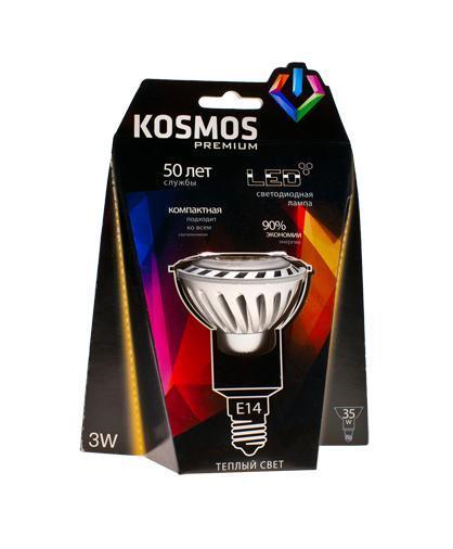 Светодиодная лампочка Kosmos KLED3wJDR230vE1427