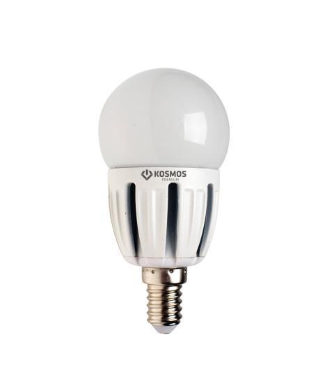 Светодиодная лампа Kosmos Premium, Глоб 45 220V белый свет, цоколь Е14, 5WKLED5wGL45230vE1445Компактные размеры, меньший нагрев, позволяют заменить лампу накаливания глоб 45 60 Вт в таких элементах освещения как люстры, светильники, БРА, в декоративном освещении. Светодиодные лампы GL45 5 Вт создают мягкий рассеивающий свет, специально разработаны с учетом требований российских и европейских законов и подходят ко всем осветительным устройствам со стандартным патроном E14 (миньон). Использование светодиодов от мирового лидера SAMSUNG и предоставление 2 лет гарантии – залог надежной и стабильной работы лампы. Нейтральный белый оттенок свечения идеально подойдет для освещения кухни и гостиной.