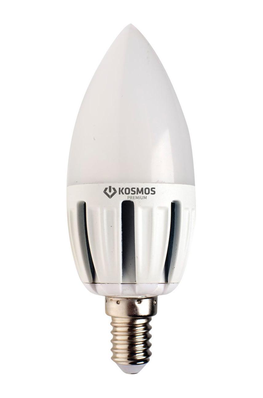 Светодиодная лампа Kosmos Premium, теплый свет, цоколь Е27, 5W. KLED5wCN230vE2727KLED5wCN230vE2727Использование светодиодов от мирового лидера SAMSUNG и предоставление 2 лет гарантии – залог надежной и стабильной работы лампы. Теплый оттенок света лампы по цветовой температуре соответствует обычной лампе накаливания и позволит создать уют в спальнях и местах отдыха.