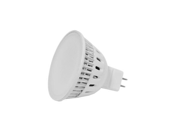 Лампа светодиодная Estares MR16, холодный белый свет, цоколь GU5.3, 5W 4200K 220V10222Светодиодная лампа Estares Свеча инновационный и экологичный продукт, специально разработанный для эффективной замены любых видов галогенных или обыкновенных ламп накаливания во всех типах осветительных приборов. Не имеет вредных излучений UF и IR