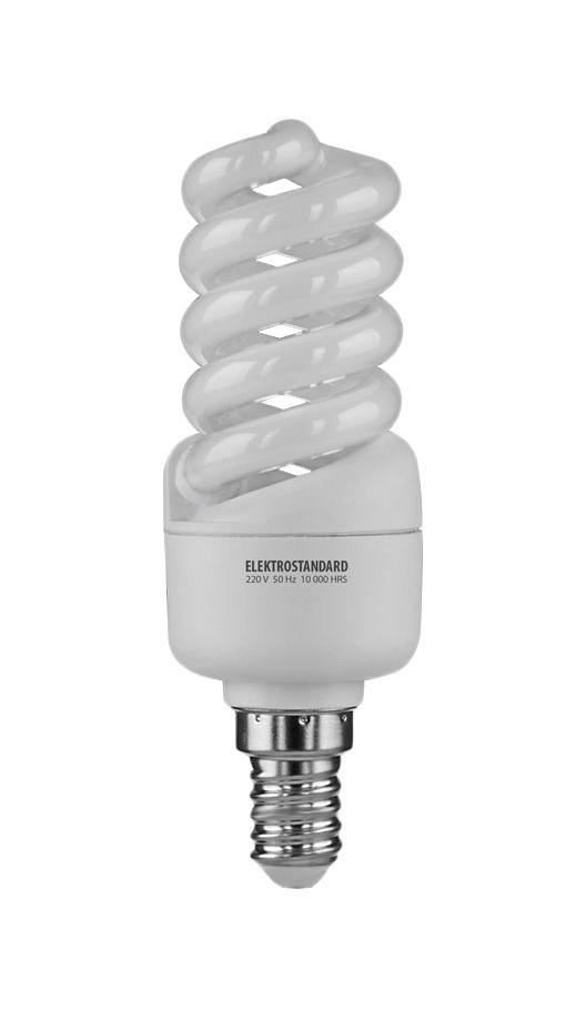 Elektrostandard лампа энергосберегающая Микро винт, теплый свет, цоколь Е14, 13Wa023957Энергосберегающая лампа Электростандарт Микро винт способствует расслаблению, ее лучше использовать в спальнях, местах отдыха. Сфера применения энергосберегающей лампы Электростандарт та же, что и у лампы накаливания, но данная лампа имеет ряд преимуществ: температура колбы ниже, чем у ламп накаливания, что позволяет использовать энергосберегающие лампы в тканевых абажурах без риска их выцветания и возникновения пожара; полностью заменяет галогенные и обычные лампы накаливания. Лампа обладает высоким индексом цветопередачи Ra >80. Это означает, что все цвета объектов, освещаемые лампой, выглядят естественно и натурально. Лампа оборудована системой плавного запуска, позволяющего лампе загораться постепенно в течение 1-2 секунд. Электронное пускорегулирующее устройство не вызывает стробоскопического эффекта при работе лампы, что оказывает благоприятное воздействие на глаза человека и его нервную систему Напряжение: 220 вольт