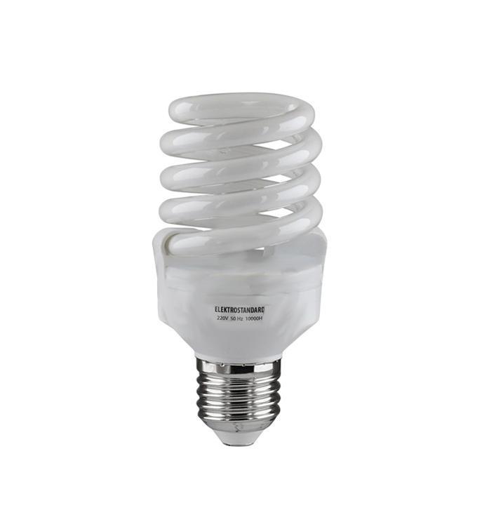 Elektrostandard лампа энергосберегающая Компакт винт, теплый свет, цоколь Е27, 20Wa024279Энергосберегающая лампа Электростандарт Компакт винт способствует расслаблению, ее лучше использовать в спальнях, местах отдыха. Сфера применения энергосберегающей лампы Электростандарт та же, что и у лампы накаливания, но данная лампа имеет ряд преимуществ: температура колбы ниже, чем у ламп накаливания, что позволяет использовать энергосберегающие лампы в тканевых абажурах без риска их выцветания и возникновения пожара; полностью заменяет галогенные и обычные лампы накаливания. Лампа обладает высоким индексом цветопередачи Ra >80. Это означает, что все цвета объектов, освещаемые лампой, выглядят естественно и натурально. Лампа оборудована системой плавного запуска, позволяющего лампе загораться постепенно в течение 1-2 секунд. Электронное пускорегулирующее устройство не вызывает стробоскопического эффекта при работе лампы, что оказывает благоприятное воздействие на глаза человека и его нервную систему. Напряжение: 220 вольт