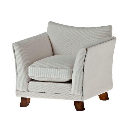 Миниатюра кукольная Art of Mini Кресло с подушкой, цвет: белый. AM0102010AM0102010