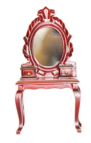Миниатюра кукольная Art of Mini Трюмо, цвет: махагон. AM0102034AM0102028