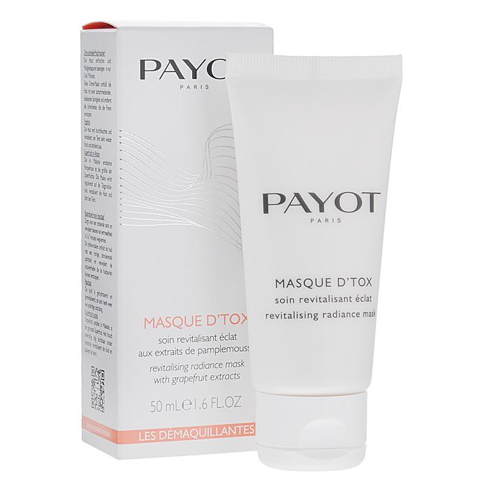 Payot Маска-детокс для лица, очищающая, 50 мл65074180Маска для удаления токсинов и улучшения цвета лица. Секрет мгновенного сияния! Идеальное средство для экспресс-ухода за кожей. Используется всегда, когда нужно стереть следы усталости. Глубоко очищает и смягчает, осветляет кожу и поглощает излишки себума, снимает напряжение и маску усталости. Способ применения : применяется один или два раза в неделю. Нанесите маску на 10 минут на кожу лица, шеи и декольте.
