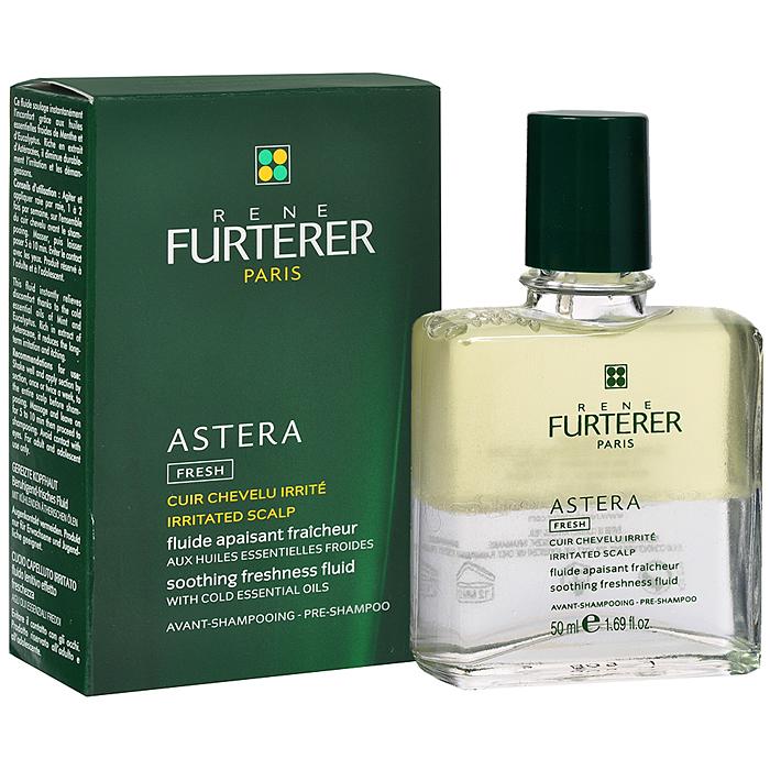 Rene Furterer Флюид Astera успокаивающий, с охлаждающими маслами, для чувствительной кожи головы, 50 мл3282779366557Средство для ухода и лечения раздраженной и чувствительной кожи головы. Успокаивающий флюид снимает раздражение уже после первого применения. Имеет двухфазную формулу, которая способствует оздоровлению кожи головы, восстанавливает гидро-липидный баланс и дарит коже ощущение комфорта. Стимулирует обновление клеток и заживляет. Идеально подходит для релаксирующего массажа. Экстракт астеры (семейство астровых) - успокаивает, устраняет раздражение, шелушение, зуд. Эфирные масла мяты и эвкалипта + камфора - очищают и освежают кожу головы. Растительный сквален - восстанавливает гидролипидный баланс. Витамины A, E, F активируют клеточную регенерацию, нейтрализуют действие свободных радикалов. Способ применения : равномерно нанести на кожу головы, помассировать для лучшего впитывания и оставить на 10 мин. Затем нанести продукт для лечебного ухода. Используется 1-2 раза в неделю.