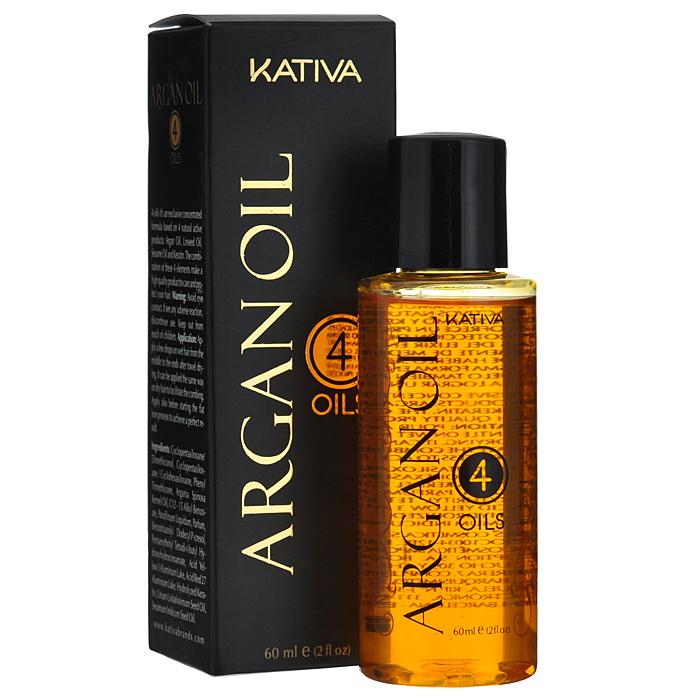 Kativa Концентрат Argan Oil. 4 масла для волос, восстанавливающий, защитный, 60 мл65866007Комбинация активных компонентов, таких как: аргановое масло, масло льняного семени, кунжутное масло обеспечивают необходимое увлажнение и питание, способствуют восстановлению поврежденных волос, насыщают витаминами и микроэлементами. В состав средства входит кератин, гарантирующий шелковистый блеск, гладкость и восхитительный объем вашим волосам. Способ применения : для интенсивного увлажнения смешайте 5 капель концентрата с 20 гр маски из линии Аргана, полученную смесь нанесите на волосы, оставьте на 5 минут, а затем смойте. Добавьте 5 капель средства в краску или раствор для выпрямления волос и используйте как обычно. Ваши волосы будут надежно защищены! Придайте волосам гладкость шелка - нанесите всего несколько капель масла (в зависимости от длины) на сухие волосы. Для надежной термозащиты нанесите несколько капель продукта непосредственно перед сушкой или выпрямлением при помощи утюжка. Товар сертифицирован.