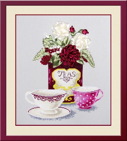 Набор для вышивания крестом Овен Чайная фантазия 2, 25 х 30 см набор для вышивания крестом овен гламурка 25 х 25 см 562137
