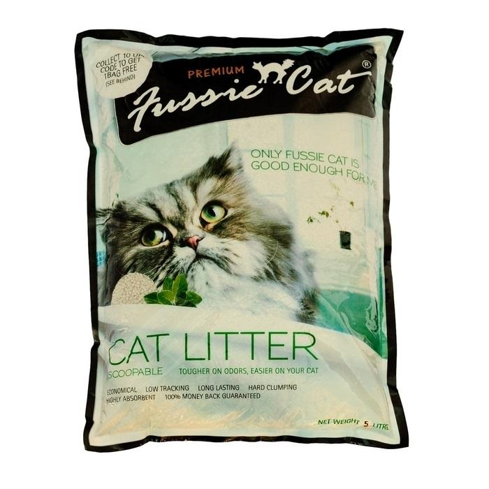 """Наполнитель для кошачьего туалета """"Fussie Cat"""", комкующийся, 5 л 300111"""