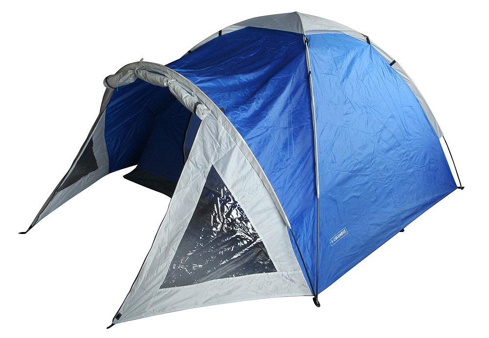 Палатка Nevada Plus, двуслойная, цвет: синий2739Двуслойная палатка Nevada Plus - удобная палатка с одним входом для трёх-четырех человек. Дно - терпаулинг. Дуги фибергласовые 3 x 7,9 мм, швы проклееные, каркас внешний. Также имеется просторный светлый тамбур при входе в палатку с обзорными окнами. Палатка предназначена для путешествий. Упакована в чехол с удобной ручкой для переноски.