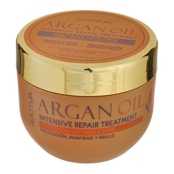 Kativa Уход Argan Oil для волос, интенсивно восстанавливающий, увлажняющий, 250 мл65807249Средство обеспечивает интенсивное пролонгированное увлажнение и питание вашим волосам. Они великолепно защищены от негативного воздействия внешних факторов, таких как ультрафиолет, частая укладка волос или выпрямление с помощью парикмахерского утюжка. Маска возвращает волосам упругость и эластичность, делая их гладкими и ухоженными. Обеспечивает эластичность, выносливость и придает блеск волосам. Способ применения : нанести на чистые влажные волосы по всей длине. Оставить на 5-10 минут для глубокого воздействия, а затем тщательно смыть.