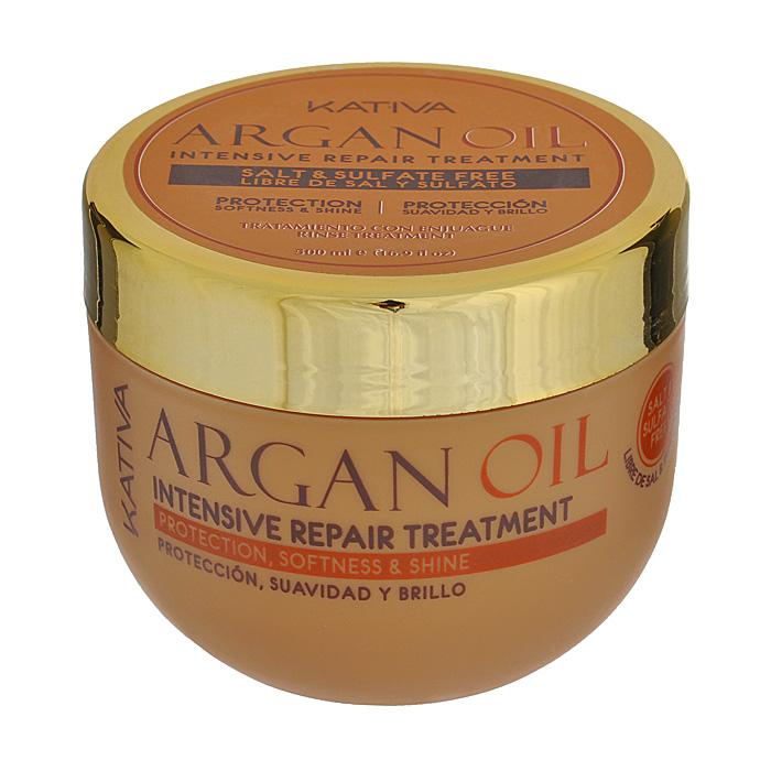 Kativa Уход Argan Oil для волос, интенсивно восстанавливающий, увлажняющий, 500 мл65807243Средство обеспечивает интенсивное пролонгированное увлажнение и питание вашим волосам. Они великолепно защищены от негативного воздействия внешних факторов, таких как ультрафиолет, частая укладка волос или выпрямление с помощью парикмахерского утюжка. Маска возвращает волосам упругость и эластичность, делая их гладкими и ухоженными. Обеспечивает эластичность, выносливость и придает блеск волосам. Способ применения : нанести на чистые влажные волосы по всей длине. Оставить на 5-10 минут для глубокого воздействия, а затем тщательно смыть.