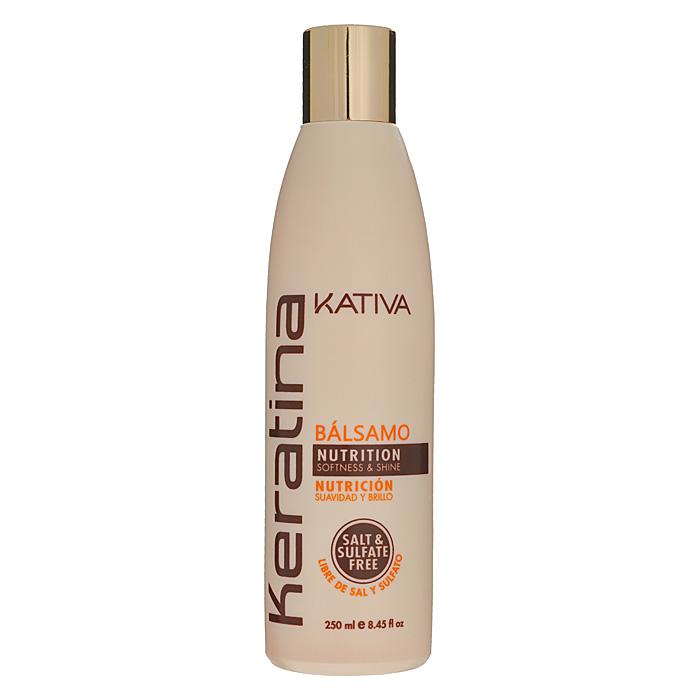 Kativa Бальзам-кондиционер Keratina, для всех типов волос, 250 мл65866211Укрепляющий бальзам-кондиционер превосходно восстанавливает природную упругость и поврежденных и чувствительных прочность волос, укрепляет их, придавая блеск и мягкость. Придает им игривый блеск, облегчает расчесывание и защищает от воздействия внешних факторов. Бальзам обогащен аргановым маслом и кератином. Не содержит сульфата. Способ применения : нанесите на чистые вымытые волосы только по длине, оставьте на 5 минут для воздействия, а затем тщательно смойте. Товар сертифицирован.