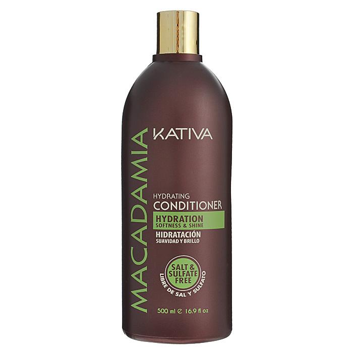 Kativa Кондиционер Macadamia интенсивно увлажняющий, для нормальных и поврежденных волос, 500 мл
