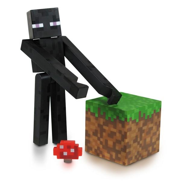 Фигурка Minecraft Странник края, 10 см16500Фигурка Minecraft Странник края станет прекрасным подарком для поклонника популярной инди-игры Minecraft. Она выполнена из прочного пластика в виде Странника края. Голова, руки и ноги фигурки подвижны, что позволит придавать Страннику различные позы. В комплект входят кубик и грибок. Ваш ребенок будет часами играть с этой фигуркой, придумывая различные истории. Порадуйте его таким замечательным подарком! Minecraft - инди-игра в жанре песочницы с элементами выживания. мир игры полностью состоит из блоков: игрок, ландшафт, предметы, мобы и т.д. Игрок управляет персонажем, который может разрушать и устанавливать блоки, формируя фантастические структуры, здания и художественные работы в одиночку или коллективно с другими игроками в разных игровых режимах.